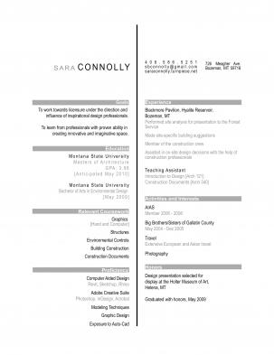 sara connolly l architecture portfolio resume